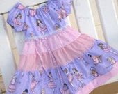 Dress- Ballerina Peasant Dress, Size 3  Lavender and Pink