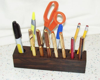 Wood Desk Organizer/Pencil-Pen Holder/Office Organizer - Mexican Ziricote Wood