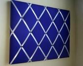 16x20 Memory board Bow Board Ribbon Board Bow Holder Purple and Silver