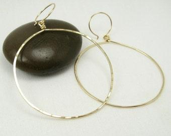 HALO HOOP EARRINGS, gold large hoop circle earrings