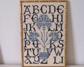 Vintage Alphabet Letter Needlepoint