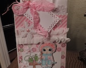 OOAK Christmas Gift Bag/Featuring Sheri Baldy digi stamps