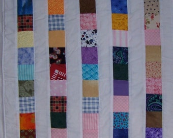 Reversible One of a Kind Scrappy Table Runner Table Mat