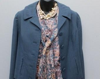 Vintage 1970s/80s Short Suit Jacket w/Matching Blouse /  36 bust / LOLOTTE