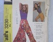Wrap-around pantskirt vintage pattern