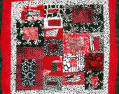Modern Red Valentine's  Art  Quilt Wall Hanging A Friend Loves At All Times