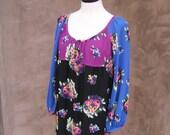Vintage Betsey Johnson Multi Colored MiniDress/Top