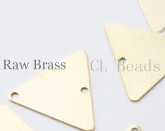 20pcs Raw Brass Triangle - 16.5mm (1716C-T-44)