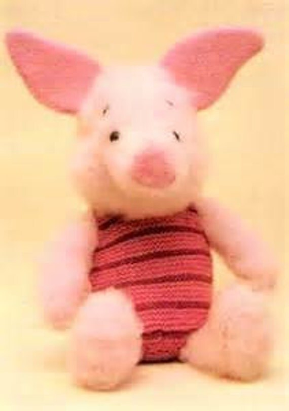 Knitting Patterns For Disney Toys : Disney Piglet Toy Knitting Pattern with 2 extra by sammyseal