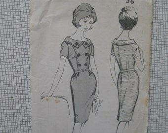"1960s Dress - 36"" Bust - Weekend 168 Sewing Pattern"