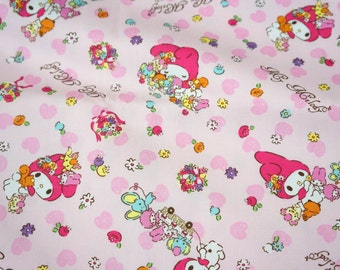 Sanrio fabric my melody and sweets fat quarter