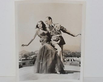 """Vintage Photograph Fred Astaire & Rita Hayworth """"You Will Never Get Rich"""", 1941"""