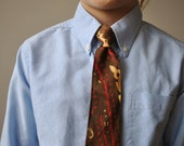 "1960s ""It's a Snap!"" Snapper Paisley Tie for the Kiddos"