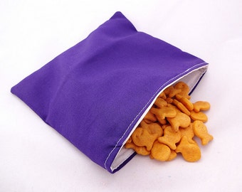 Purple Reusable Snack Bag
