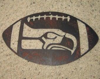 World Champs Seahawks Metal Art- Football-Superbowl-Champions-Steel Art-Man cave-Home Decor