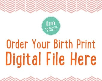 New - DIGITAL FILE Option - You pick and customize your birth announcement print