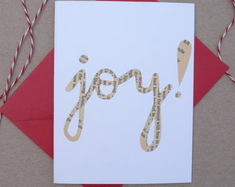 "Cut-out ""Joy"" Card."