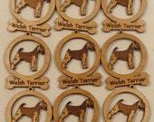 9 Mini Welsh Terrier Dog Ornaments
