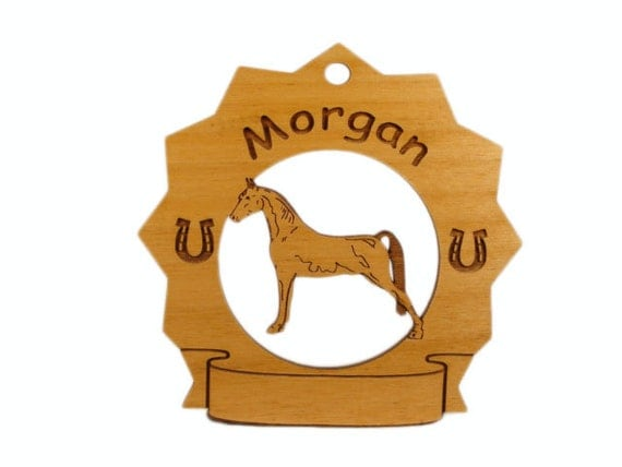 8191 Morgan Horse Personalized Wood Ornament
