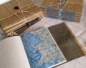 48pg Travel & Sketchbook Journal from Recycled Map Pages