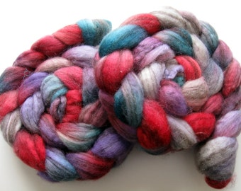 Spring flowers - 8 ounces available - Swirl Roving BFL Wool Roving (Top) - Handpainted Spinning or Felting Fiber, 4 ounces