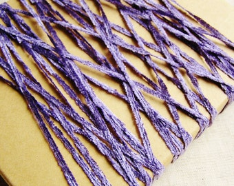 Lavender Crushed Chenille Ribbon- silky vintage style velveteen trimming, wedding party crafts, doll miniature crafting- 15 yds