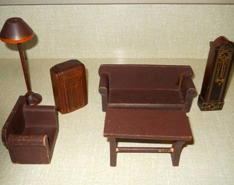 Sale Vintage Strombecker Miniature Dollhouse Furniture