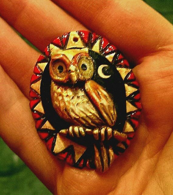 Moonlight Owl Pendant