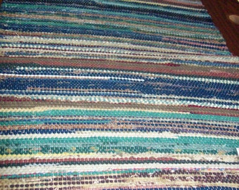Handcrafted  Handwoven Rag Rug (New London/35)-199s