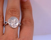 Woman Face Ring
