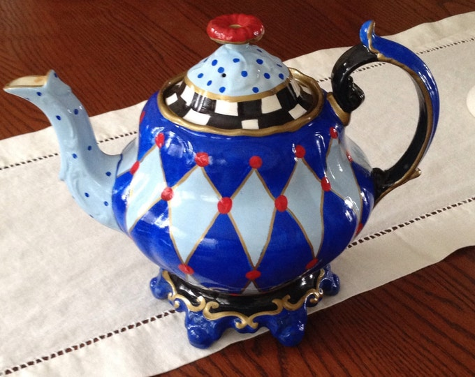 Custom Hand Painted Teapot/Coffee pot