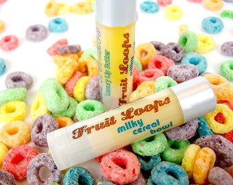 Fruit Loops - milky cereal bowl  - Shea Lip Butter