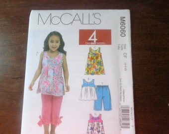 McCall's 6060 girls' summer clothes pattern