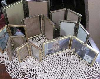 Wow...Lowered Price..Lot of 8  Gold Hollywood Regency Metal Picture Frames,Paris Apt, Wedding, Repurpose,
