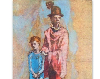 Two Saltimbanques by Pablo Picasso - a Frameable, Vintage 1954 Frameable Art Print
