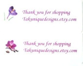 30 Labels Address Thank You  Gift Personalized For Your Shop Picture Choice Everyday