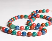 Amazonite, Dolomite, Prehnite, Lapis and Gold Long Necklace in Teal Green, Blue, Mint, Coral, Rust under 100 - Jardin Majorelle