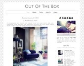 Responsive Premade Blogger Template  - Out Of The Box - Graphic Design - Blog Template