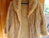 PRICE REDUCED.....Beautiful vintage fox car length coat with collar and silky lining