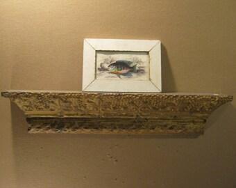"2 FOOT Repurposed Tin Ceiling Pediment Shelf / Ledge 23.5x47.5""x3.75"" S1429-13"