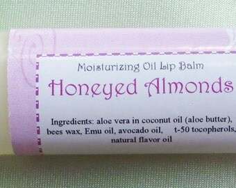 Honeyed Almonds, a moisturizing lip balm