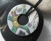 LOKI Vintage Comic Book Upcycled Washer Pendant Necklace The Avengers Marvel Comics Design 4