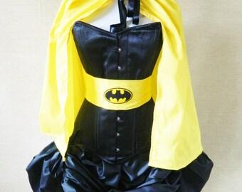 Batgirl Yellow Waist Mid Length Cloak-One Size Fits All