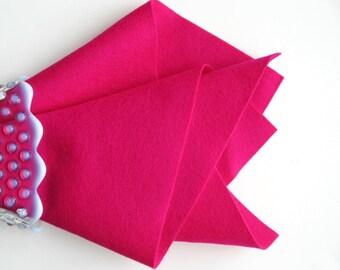 Cerise, 100% Wool Felt, Choose Size, Wool Felt Sheet, Large Felt Square, DIY Craft Supply, Pink Wool Felt, Waldorf Handwork, Quilt Applique