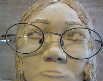 Beatle Style Vintage Eyeglasses with Sun Attachment Womens Round Tortoise!