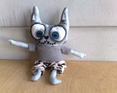 Hand painted art doll - caiden the loving family cat