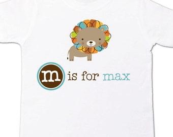 Lion shirt - personalized childrens colorful lion t-shirt kids