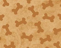 Dog Fabric Puppy Love Dog Bones 1/2 Yard