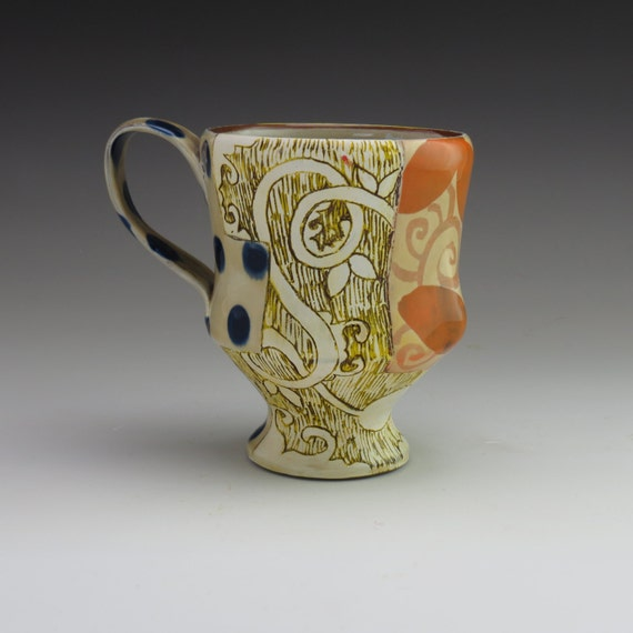 handmade ceramic mug, coffee or tea, one of a kind pottery by ceramic artist Adero Willard