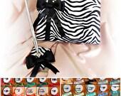 Zebra Wedding Guest Book Pen - Zebra Weddings Accessories - Satin Ribbon Custom Colors - Animal Print Weddings